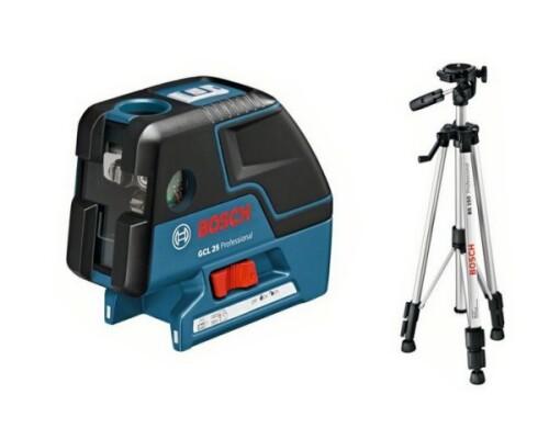 stavební samonivelační laser BOSCH GCL 25 P + stativ BS 150