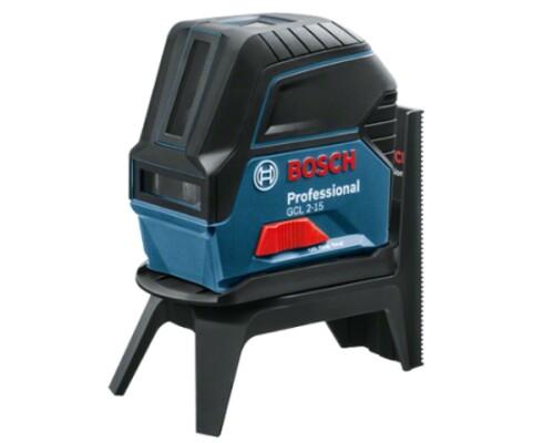 Stavební křížový laser Bosch GCL 2-15 + RM1, karton