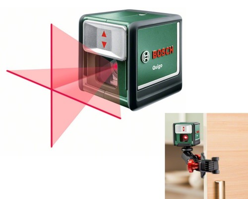 křížový laser, BOSCH QUIGO, 7m, držák