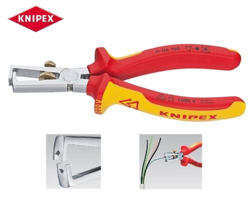 odizolovací kleště, KNIPEX,chrom, VDE, 160mm
