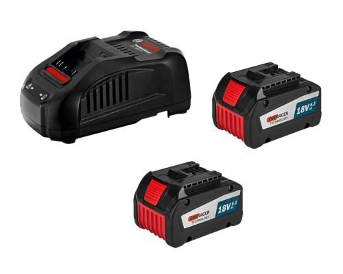 Startovací sada Bosch 18V, nabíječ GAL 1880CV + 2x GBA 18V 6,3Ah EneRacer