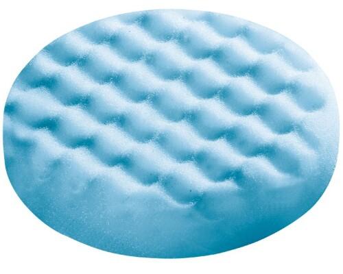 Leštící houba modrá, středně jemná, zvlněná, 150mm, 1ks