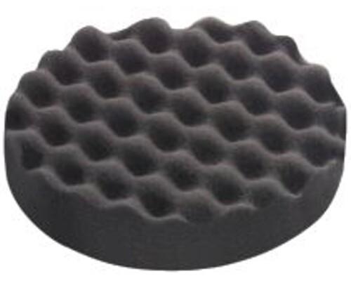 Leštící houba černá, velmi jemná, zvlněná, 150mm, 1ks