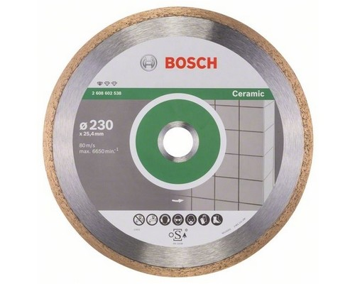 Diamantový kotouč Bosch, Standard Ceramic, 230mm (25,4mm)
