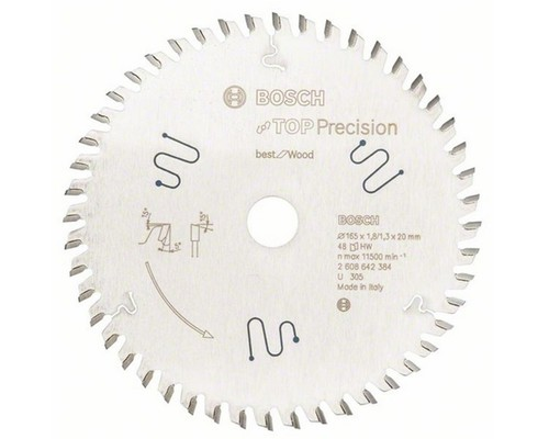 Pilový kotouč Top Precision Best for Wood 165x1,8(1,3)x20mm, 48 ATB