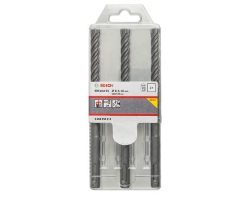Sada čtyřbřitých příklepových vrtáků SDS-Plus 5X, 6-10mm (3ks)
