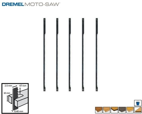 pilový list DREMEL Moto-Saw, univerzální na dřevo, MS51, 5ks