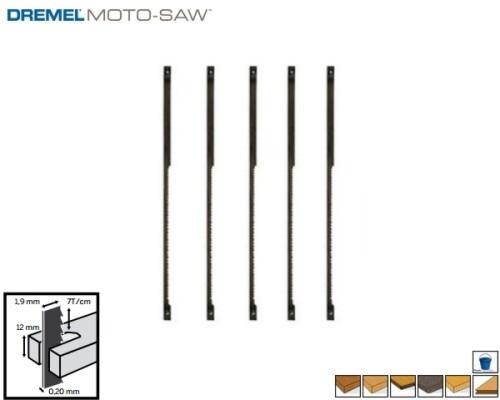 pilový list DREMEL Moto-Saw, jemný na dřevo, MS52, 5ks