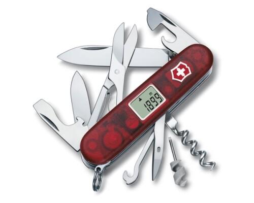 kapesní nůž VICTORINOX, Traveller, červený transparent, 91mm