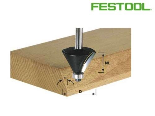 fazetovací fréza HW s ložiskem, FESTOOL, D 38,5mm, S8 mm, 30°