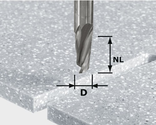 Spirálová drážkovací fréza HW Festool S12, D12x42