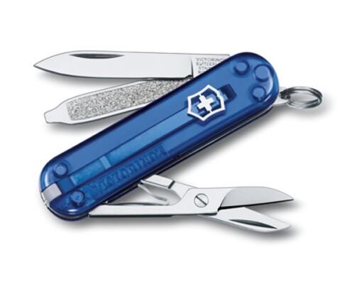 Kapesní nůž Victorinox Classic SD, modrý transparent, 58mm