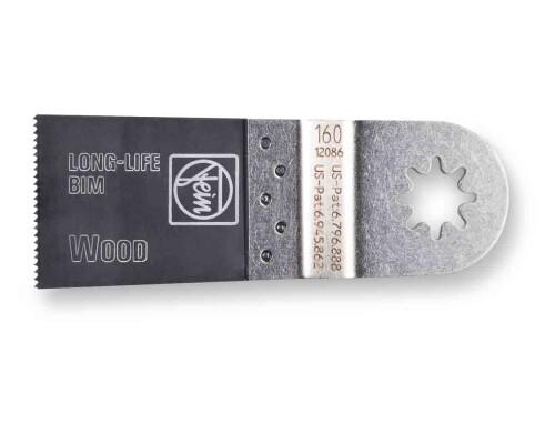 BiM pilový list na dřevo E-CUT Long-Life tvar 160, 50x35mm (1ks)