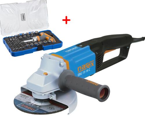 Úhlová bruska Narex EBU 15-16 C, 150mm, T-Loc + 61-Tool Box