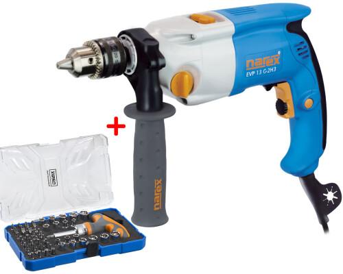 Příklepová elektrická vrtačka Narex EVP 13 G-2H3, T-LOC + 61-Tool Box