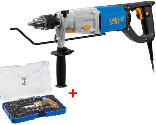 Silná příklepová vrtačka Narex EVP 16 K-2 + 61-Tool Box