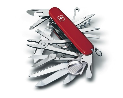 Kapesní nůž Victorinox Swiss Champ, červený, 91mm