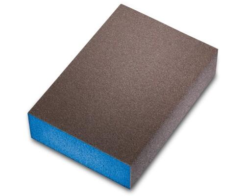 Brusná kostka čtyřstranná, tuhá pěna, modrá, UltraFine