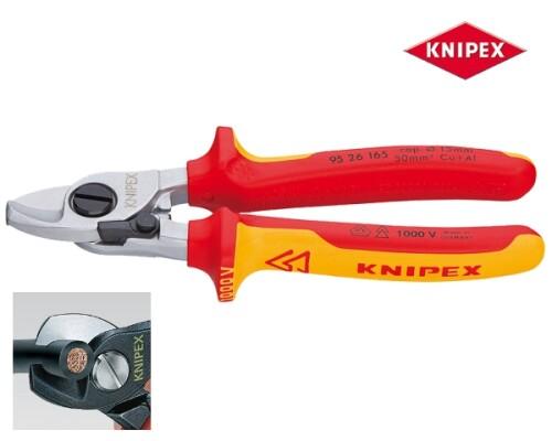 nůžky na kabely, pružina, pojistka, VDE, 165mm
