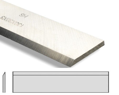 hoblovací nůž přesný, HSS 18%W, 410x30x3mm