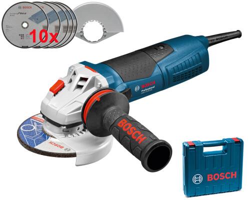 Úhlová bruska Bosch GWS 17-125 CI, 1.700 W, 125mm + kufr + 10x kotouč