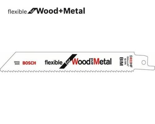 pilový list ocaska flexibilní na dřevo a kov S 922 HF, 150mm, 5ks