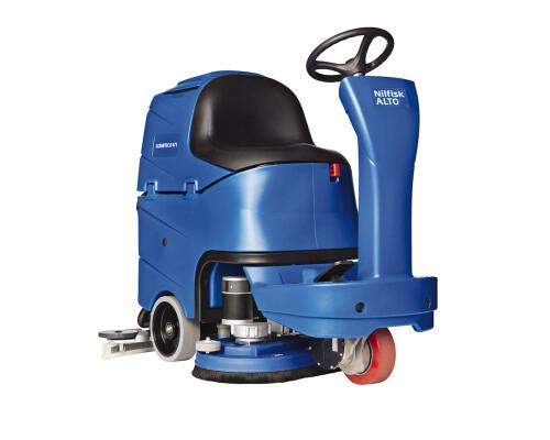 Podlahový mycí stroj se sedící obsluhou Scrubtec R 466