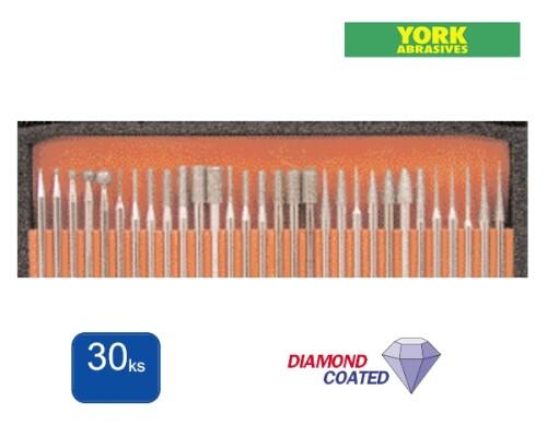 sada diamantových brusných nástrojů, 30 ks, S3