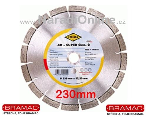 diamantový kotouč CEDIMA-AR, BRAMAC, 230mm