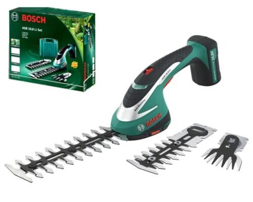 Akumulátorové nůžky na trávu a keře Bosch ASB 10,8 Li set
