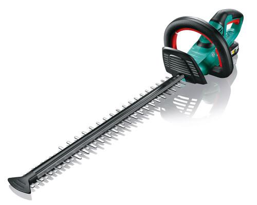 Akumulátorové nůžky na živé ploty Bosch AHS 55-20 LI, 18V, 2x2,5Ah