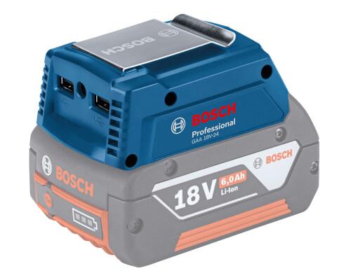 USB nabíječka GAA 18V-24 z akumulátoru Bosch profi 14,4/18V