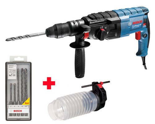 Vrtací kladivo SDS-plus Bosch GBH 2-24 DFR + adaptér + vrtáky