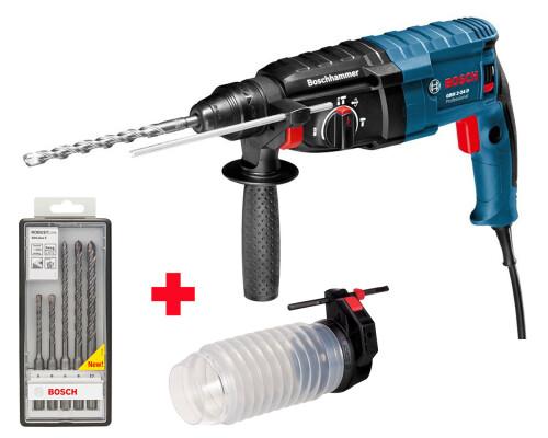 Vrtací kladivo SDS-plus Bosch GBH 2-24 DRE + adaptér + vrtáky