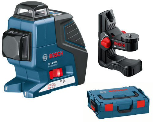 stavební křížový laser BOSCH GLL 2-80 P + držák BM1, L-Boxx