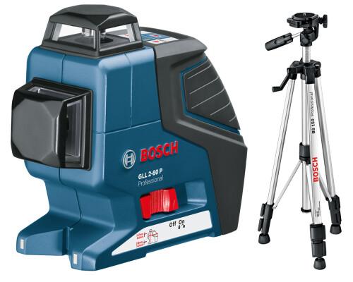 stavební křížový laser BOSCH GLL 2-80 P + stativ BS150