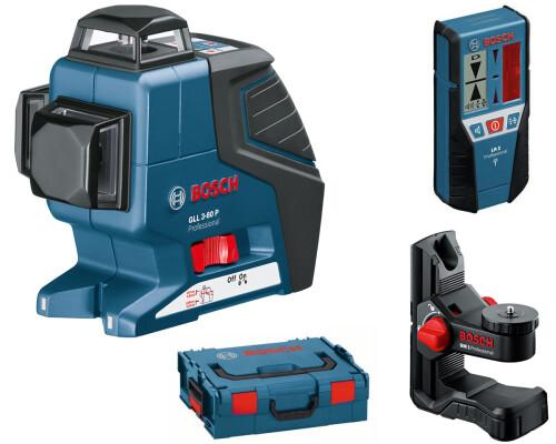 stavební křížový laser BOSCH GLL 3-80P+držák BM1+přijímač LR2, L-Boxx