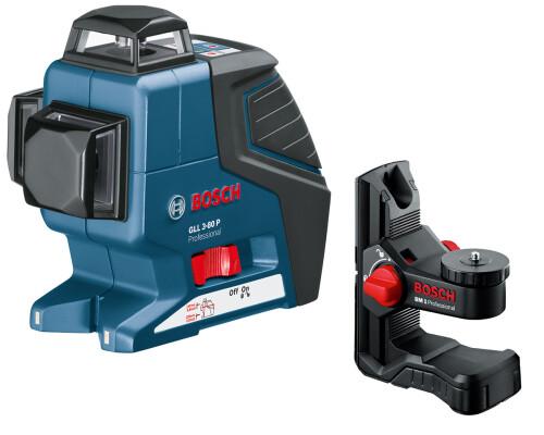 stavební křížový laser BOSCH GLL 3-80P + držák BM1, L-Boxx