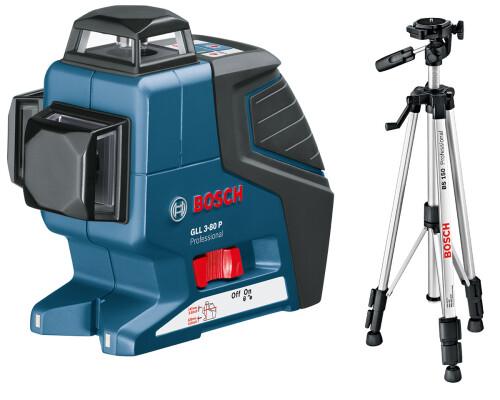 Stavební křížový laser Bosch GLL 3-80 P + stativ