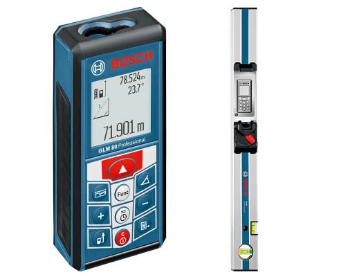 Laserový dálkoměr Bosch GLM 80 Profi s lištou R 60
