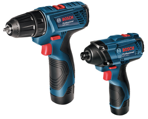 Aku sada Bosch GSR 120-Li + GDR 120-Li, 2x1,5Ah, kufr
