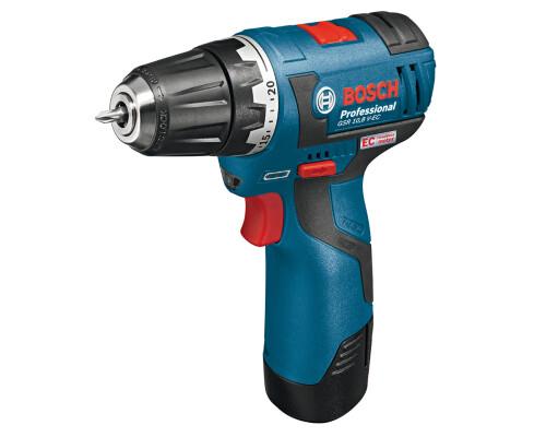 AKU vrtací šroubovák Bosch GSR 10,8 V-EC, 2x2,5Ah, L-Boxx