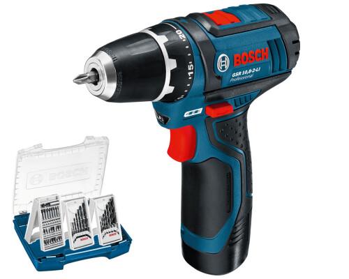 AKU vrtací šroubovák Bosch GSR 10,8-2-Li, 2x 2,0Ah, 3x sada, i-Boxx