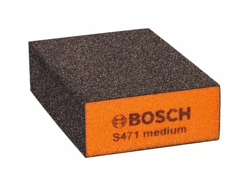 Brusná kostka čtyřstranná S471 oranžová, Medium