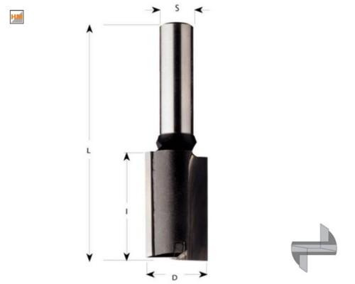 drážkovací fréza zavrtávací, CMT, HM, S8, 20/20/70mm