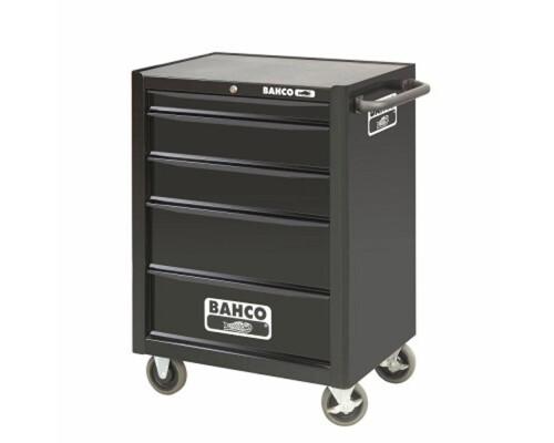 Univerzální dílenský vozík na nářadí Bahco, 5 zásuvek, černý