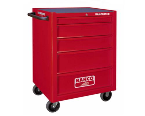 Univerzální dílenský vozík na nářadí Bahco, 5 zásuvek, červený