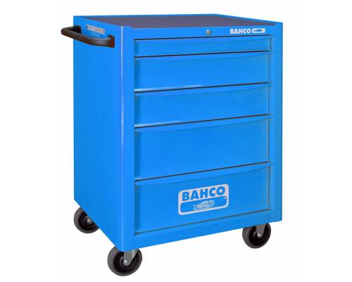 Univerzální dílenský vozík na nářadí Bahco, 5 zásuvek, modrý