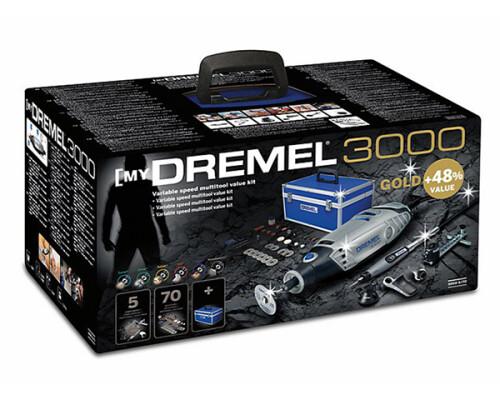 DREMEL 3000 LW zlatá edice, 130W, 5+70 ks, hliníkový kufr