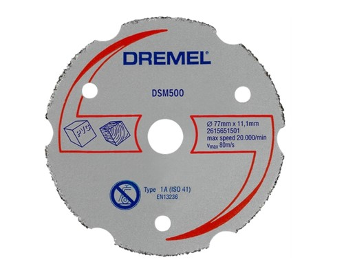 karbidový řezací kotouč DREMEL DSM 500, univerzální, 77mm, 1ks